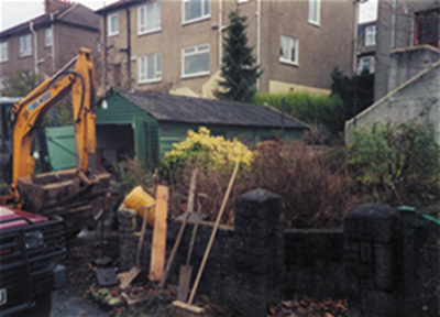 Major demolition and excavation